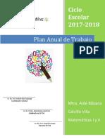 PLAN ANUAL Matematicas 2017-2018