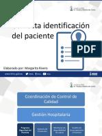 Diapositivas Identificación Del Paciente