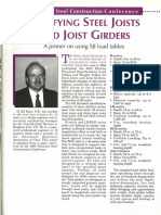 Specifying Steel Joists and Joist Girders