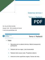 Tema 4. Radiació. Sistemes termics