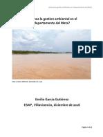 Avanza La Gestion Ambiental en El Meta EGG