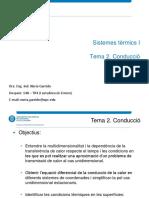 Tema 2. Conducció en Sistemes Térmics