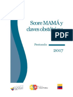 Score Mamá 2017 y Claves Obstétricas . Protocolo