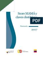Score Mamá 2017 y Claves Obstétricas . Protocolo