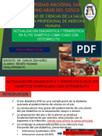 Actualización Diagnostica y Terapéutica en El Pie Diabético con osteomielitis