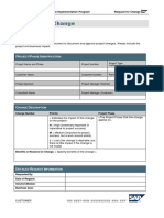 Change Request Form SAP Business One