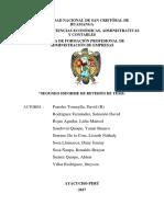 2Do informe sobre la evaluacion de una tesis