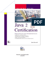 java 2 certification training guide, exams 310-025, 310-027, 310-050