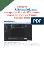 Crear una aplicación de Windows Form de C++
