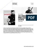 Cm 20innovativemelodicrocklicks Lick03 Tab