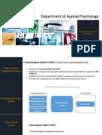 Psychology Safety Profile