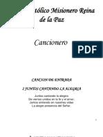 Libro de Cantos...p