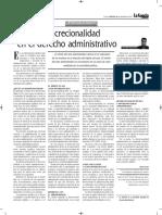 La Discrecionalidad en El Derecho Administrativo -Autor José María Pacori Cari