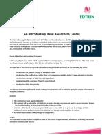 EDTRIN HDC Halal Awareness