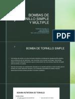 Bombas de Tornillo Simple y Múltiple