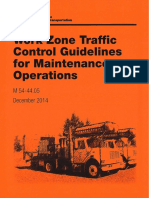 Work Zone Traffic Control Guidelines for Maintenance
