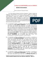 MANDATO DE INJUNÇÂO - Extinção PTB