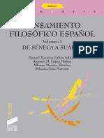 Pensamiento Filosófico Español. Vol. I_ de Séneca a Suárez (Thémata) - Manuel Maceiras