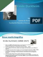 Emile Durkheim t Sociologicas Dra Suarez