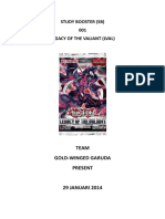 [SB001] Legacy of the Valiant (29 Januari 2014)