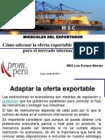 Cómo Adecuar La Oferta Exportable de Un Producto Para El Mercado Internal