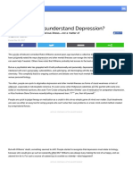 Why Do We Misunderstand Depression