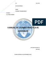 Manual de Usuario Practica 2 Assembler Calculadora