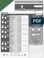 Zweihander Simplified Character Sheets