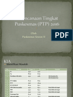 Perencanaan Tingkat Puskesmas (PTP) 2016