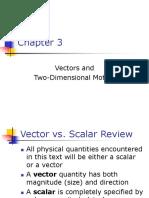 c3-Vectors and 2d Motion