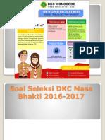 Soal Seleksi DKC Masa Bhakti 2016-2017 Paw