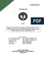 Ppm 2011 Pengujian Kualitas Geometris Mesin Perkakas