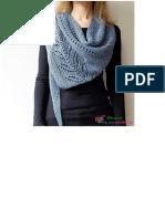 Triangle Shawl knit 1
