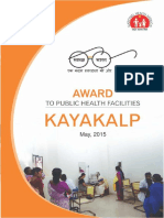 Award to Public Health Facilities Kayakalp