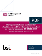 Management of Risk - Guidance for Practitioners (ISO31000-2009).pdf