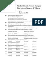 Alcohol Ether & Phenol, Halogen Derivatives, Benzene & Toluene