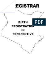Birth Registration in Perspective