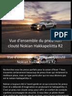 Vue d'Ensemble Du Pneu Non Clouté Nokian Hakkapeliitta R2