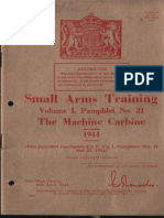 Small Arms Training the Machine Carbine 1944