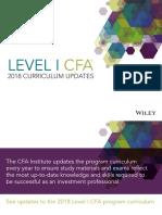 CFA Level1 2018 Curriculum Updates