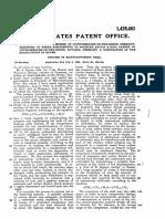 1922 Bosch US1429483 Process of Manufacturing Urea