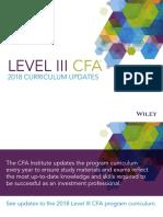 CFA Level3 2018 Curriculum Updates