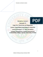 (6) Polarization and Dielectric Materials