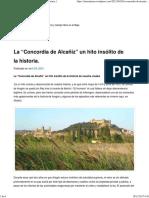 """La """"Concordia de Alcañiz"""" Un Hito Insólito de La Historia."""