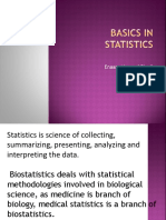 Basics in Statistics