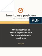 How to Use Postcron - Ryan Elnar - Your Tech Savvy Marketer