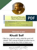 Allama Iqbal's Educational Philosophy
