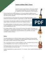 Instrumentos Cordófonos