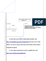 Sample Request for Entry of Default Under Rule 55(a) in United States District Court