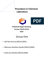 General Procedure in Chemical Laboratory